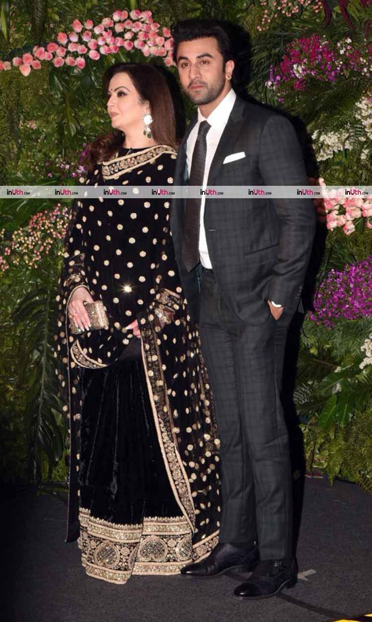 Ranbir Kapoor with Nita Ambani at Virat Kohli-Anushka Sharma's Mumbai reception