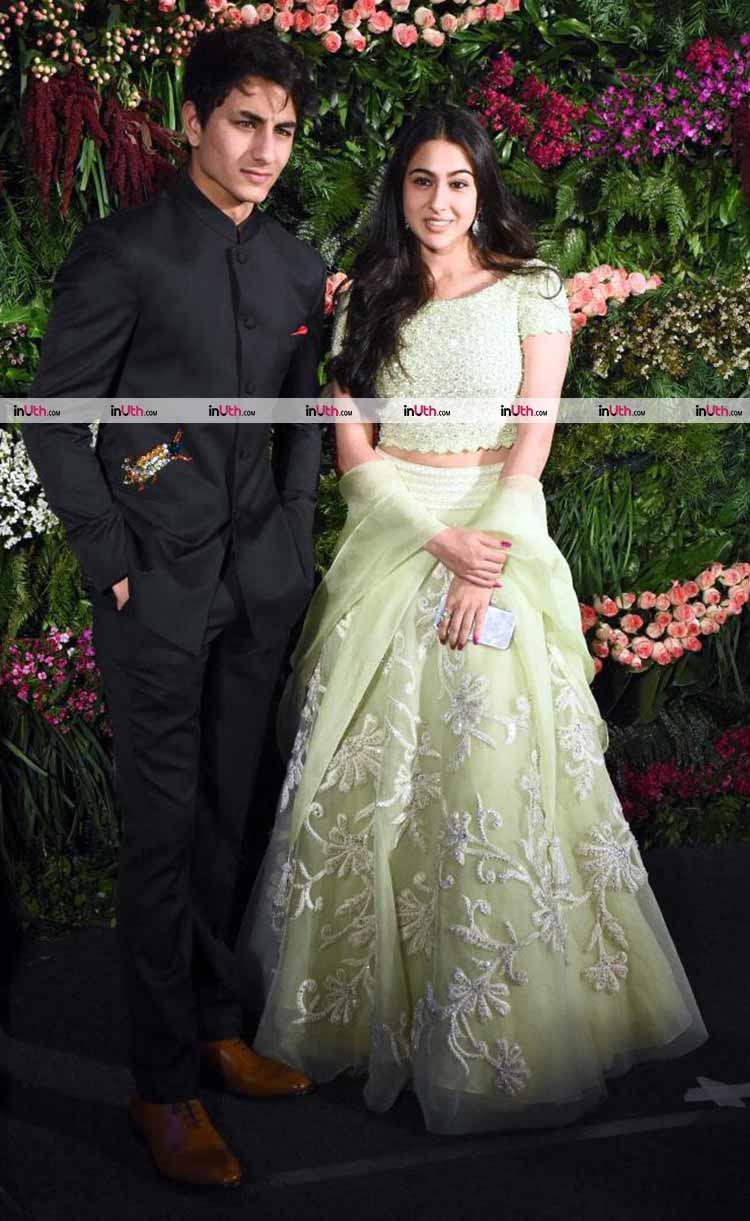 Sara and Ibrahim Ali Khan at Virat Kohli-Anushka Sharma's wedding reception