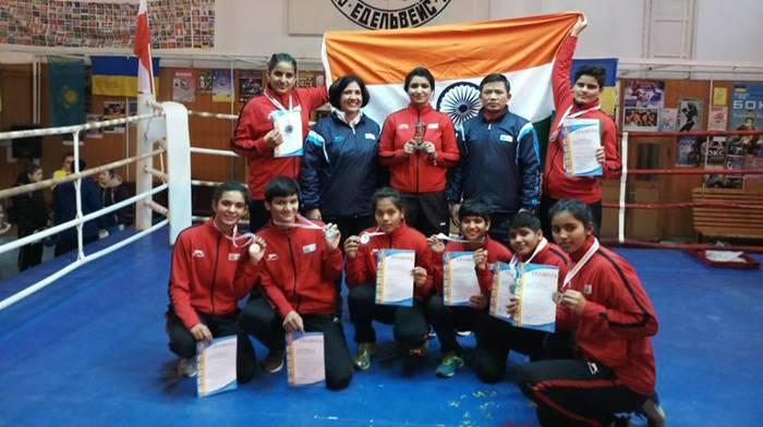 Indian junior female boxers make India proud in Ukraine, bag 8 medals including 4GOLD