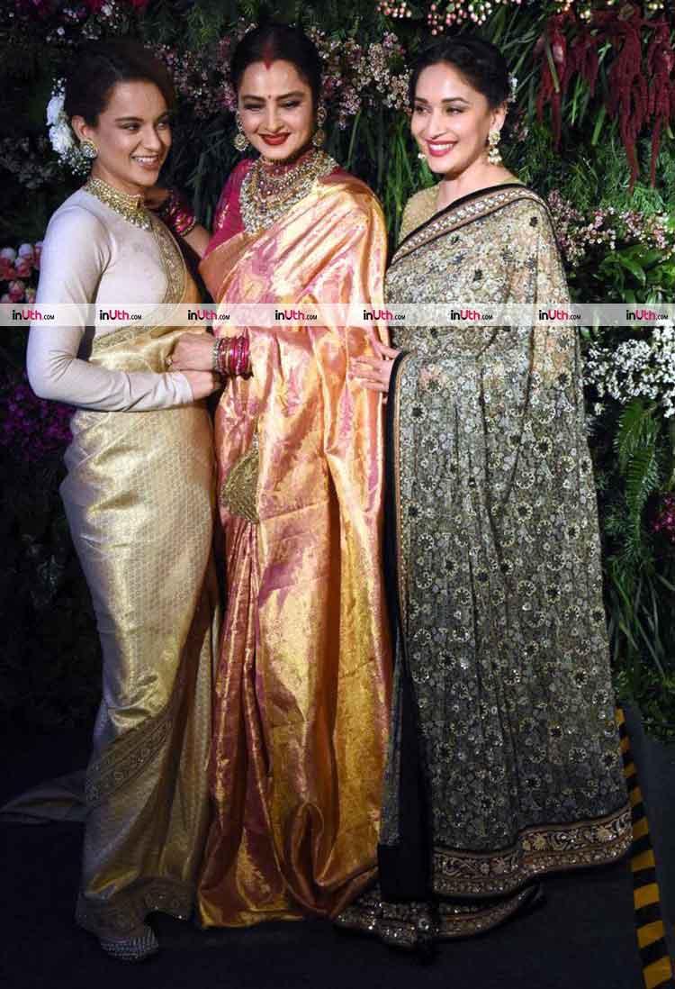 Kangana Ranaut, Rekha, Madhuri Dixit at Virat Kohli-Anushka Sharma's reception