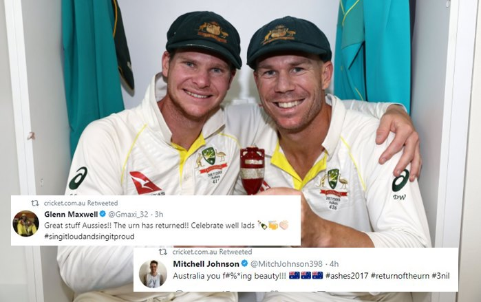 Mitchell Johnson to Glenn Maxwell, cricketers who congratulated Australia for reclaiming theAshes