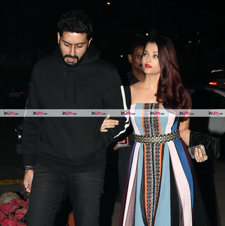Aishwarya Rai and Abhishek Bachchan at Bunty Walia's birthday party