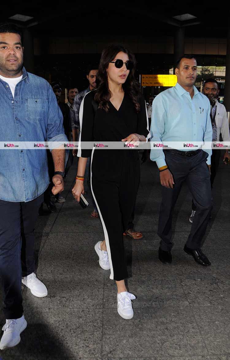 Anushka Sharma snapped at Mumbai airport on returning from South Africa