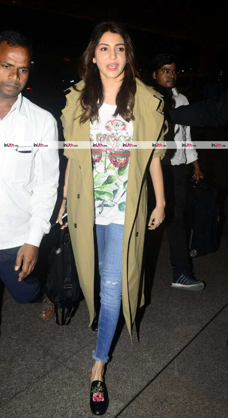 Anushka Sharma snapped leaving the country amidst wedding rumours
