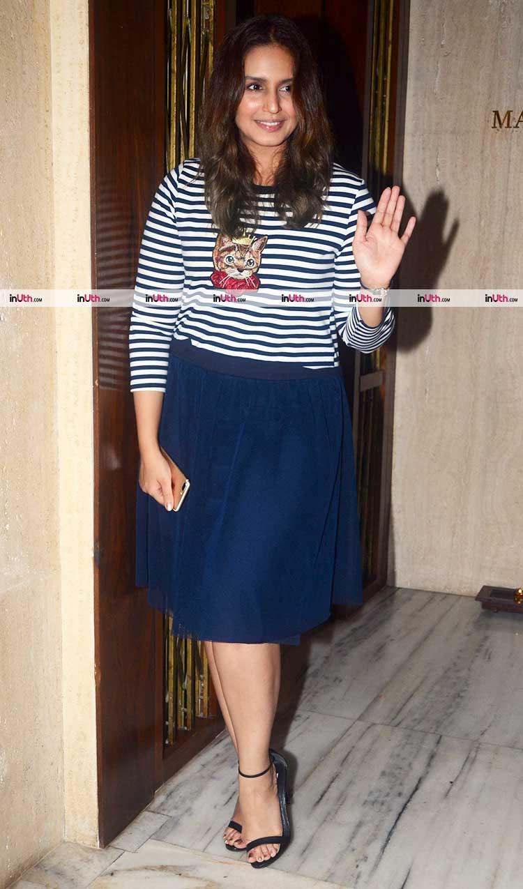 Huma Qureshi at Manish Malhotra's birthday party