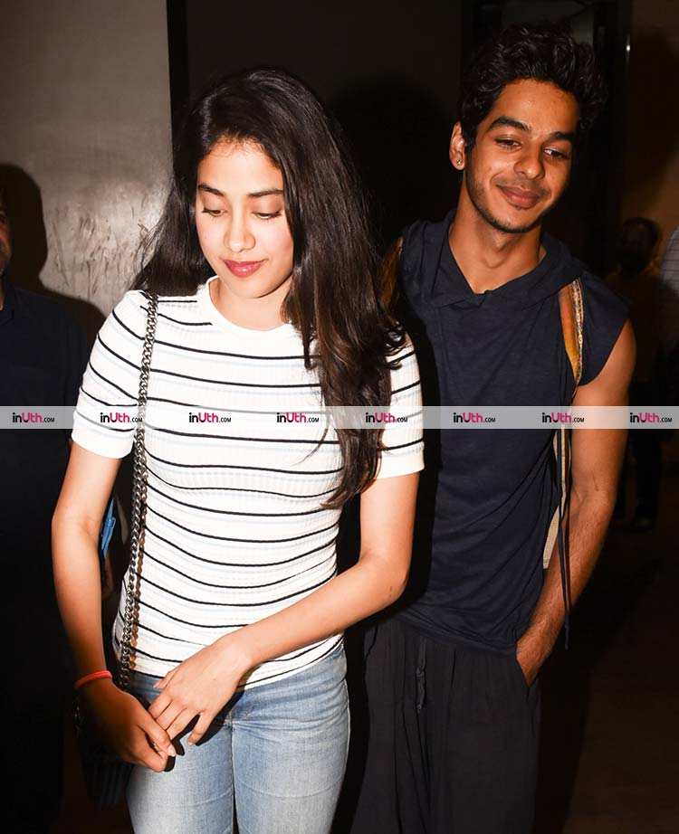 Jhanvi Kapoor snapped with Ishaan Khatter