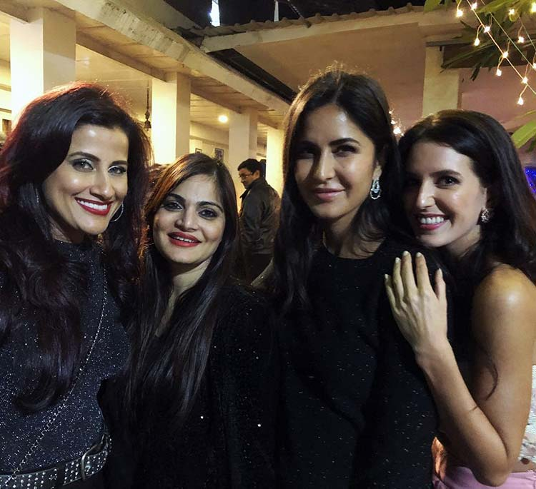 Katrina and Isabelle Kaif with Alvira at Salman Khan's birthday party