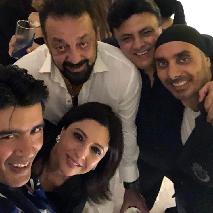 Manish Malhotra partying with Sukhbir and Sanjay Dutt