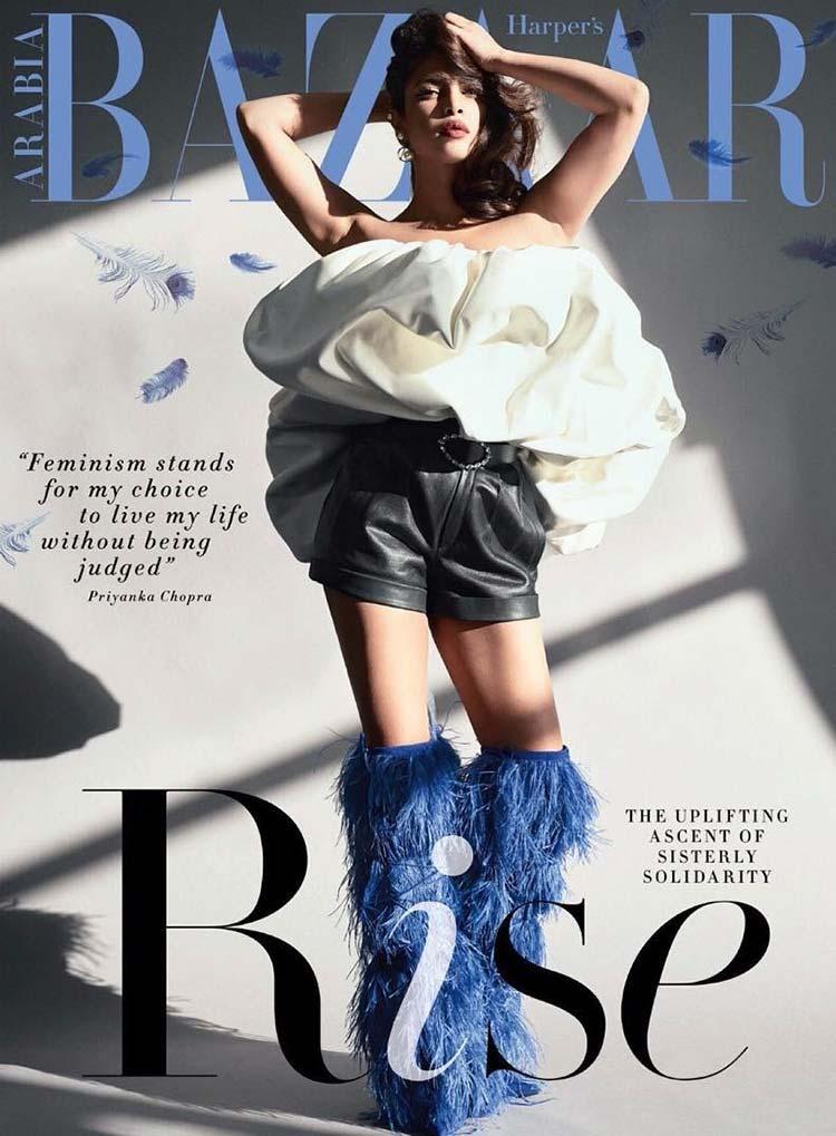 Priyanka Chopra ruling the Harper's Bazaar Arabia cover like anything