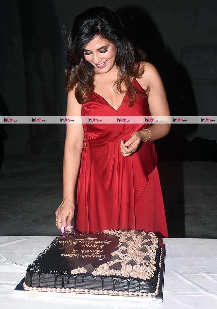 Red Cake Cutting Dress