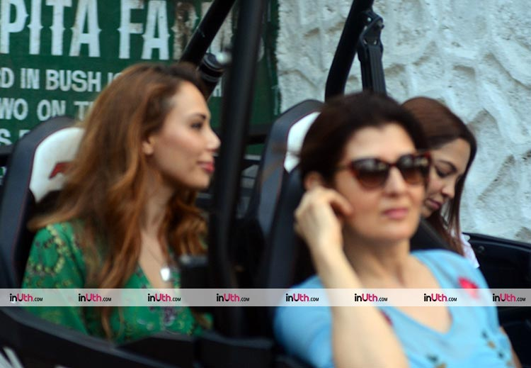 Sangeeta Bijlani and Iulia Vantur at Salman Khan's birthday