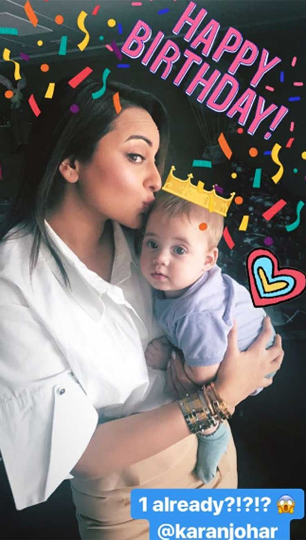 Sonakshi Sinha's uber cute pic with Karan Johar's son Yash
