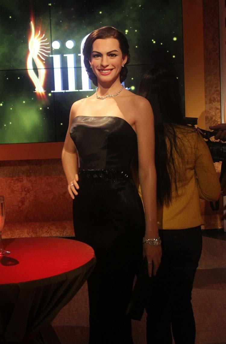 Wax figure of Anne Hathaway at Madame Tussauds Delhi