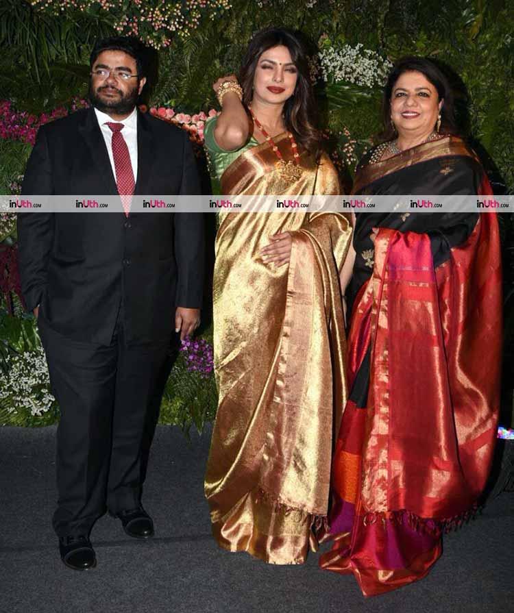 Priyanka Chopra with family at Virat Kohli-Anushka Sharma's Mumbai reception
