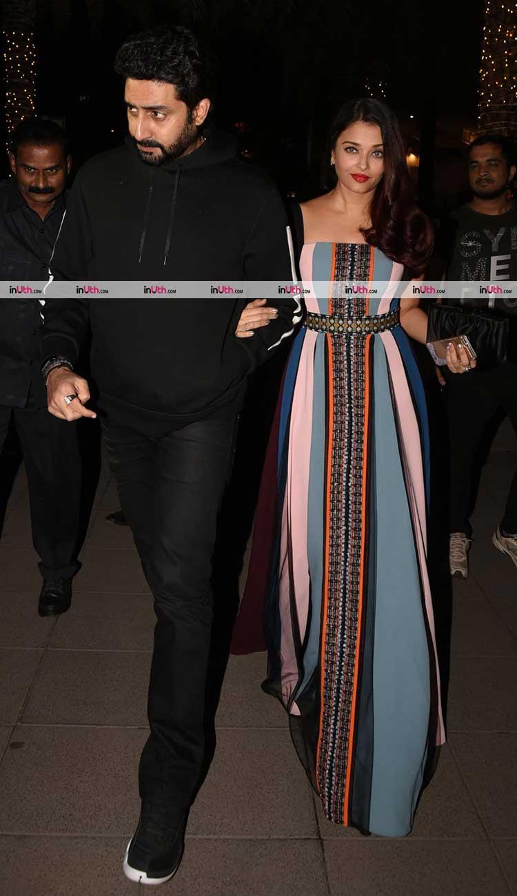 Aishwarya Rai and Abhishek Bachchan at a birthday party