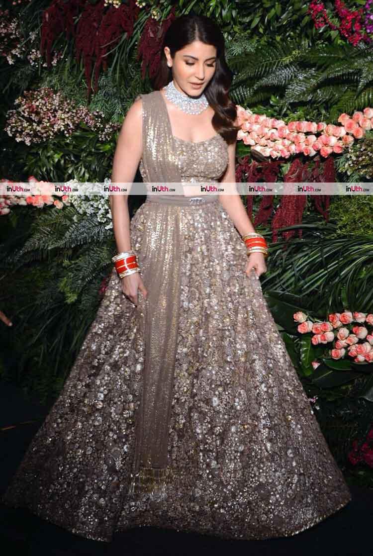 Anushka Sharma at her Mumbai wedding reception party