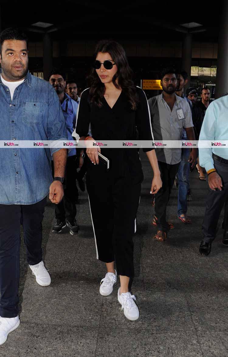 Anushka Sharma clicked at the Mumbai airport on January 7