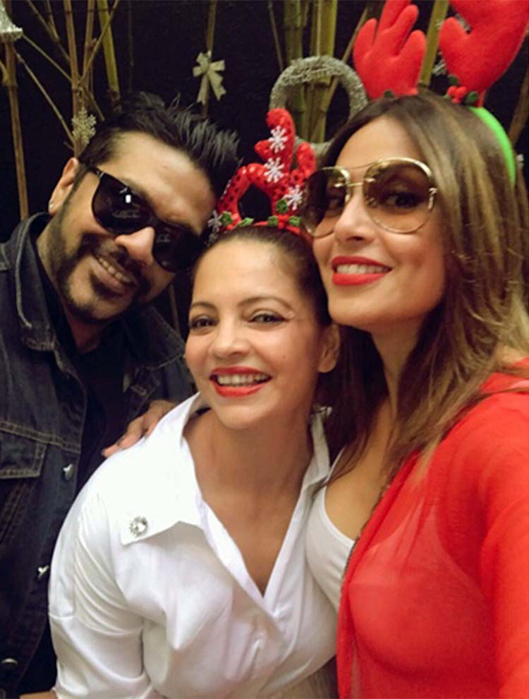 Bipasha Basu with Deanne Panday and Rocky Star at the Christmas lunch