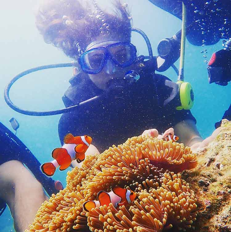 Divyanka Tripathi in her underwater world