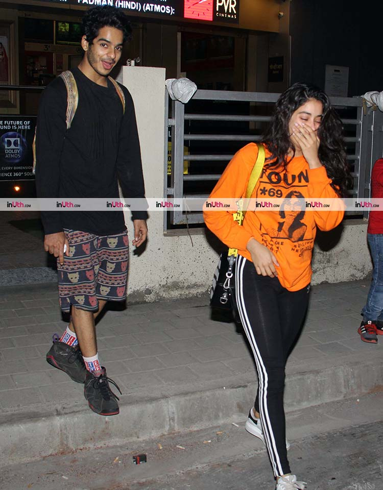 Ishaan Khatter and Jahnvi Kapoor after a movie date