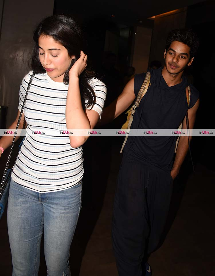 Jhanvi Kapoor and Ishaan Khatter caught candid