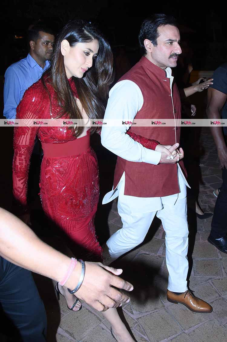 Saif Ali Khan and Kareena Kapoor snapped in Mumbai