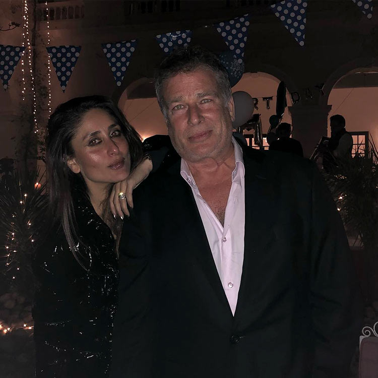Kareena Kapoor with uncle Karan Kapoor at Taimur's birthday party