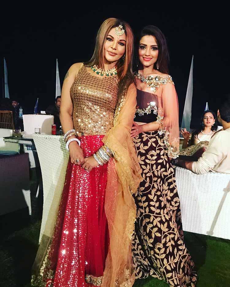 Rakhi Sawant At Bharti Singhs Wedding Photos