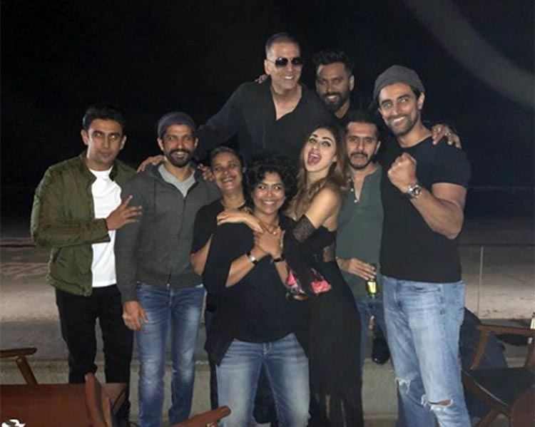 Reema Kagti with team Gold at the wrap up party