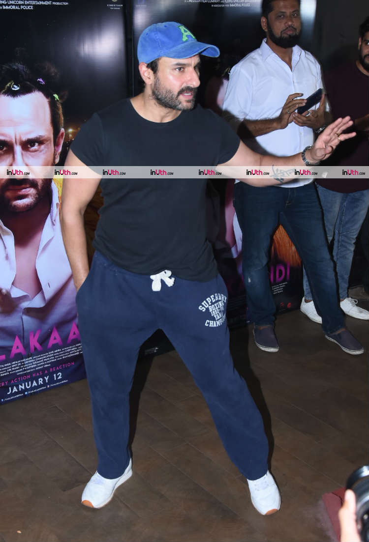 Saif Ali Khan snapped at Kaalakaandi special screening on January 9