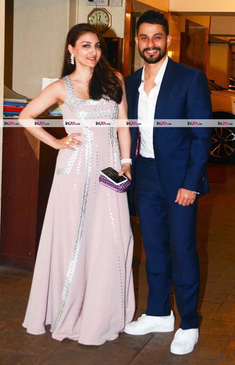 Soha Ali Khan and Kunal Kemmu arriving at Kareena Kapoor's Christmas party