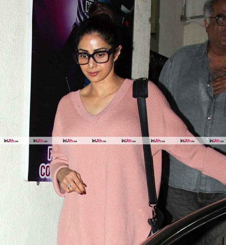 Sridevi on a movie date with daughter Janhvi Kapoor