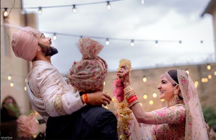 Virat Kohli shares the news of his wedding with Anushka Sharma on social media
