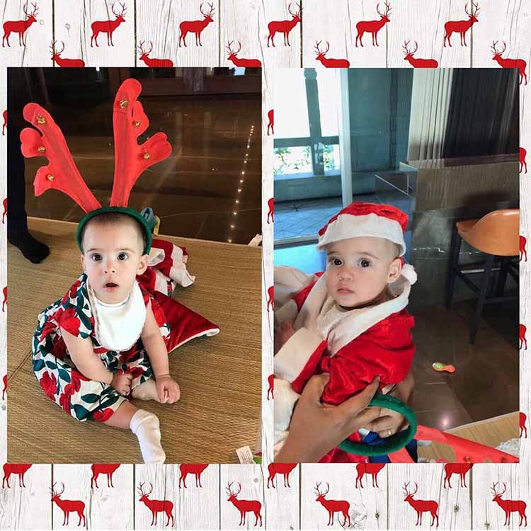 Yash and Roohi Johar decked up for the Christmas party