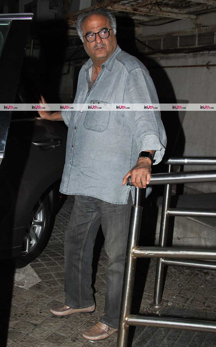 Boney Kapoor on a movie date with daughter Janhvi Kapoor
