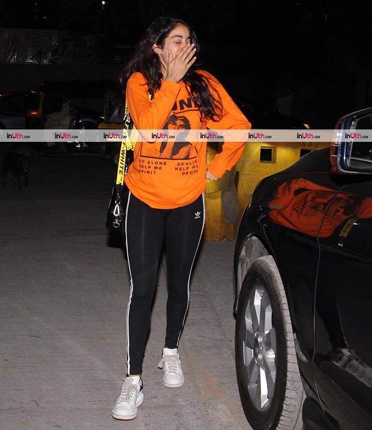 Jahnvi Kapoor was all smiles after the movie date with Ishaan