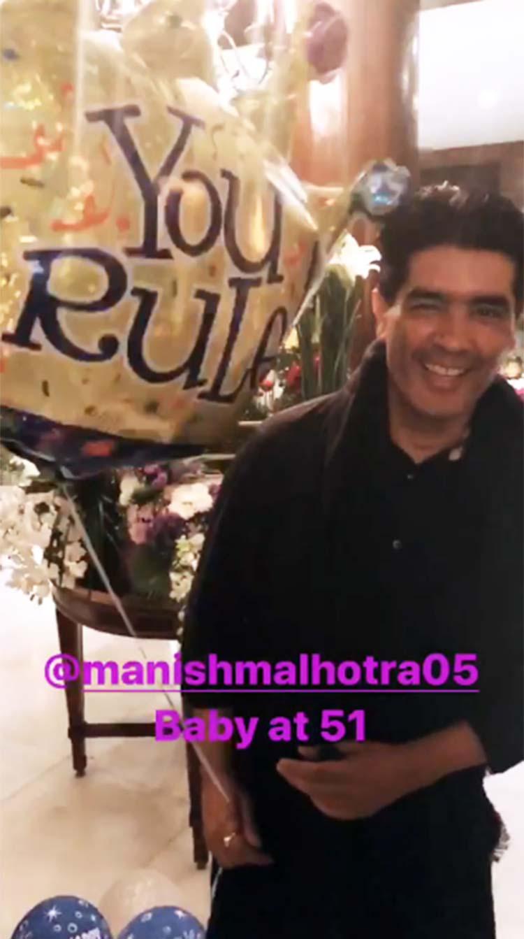 Manish Malhotra at his 52nd birthday party