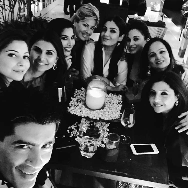Manish Malhotra with his guests at the party
