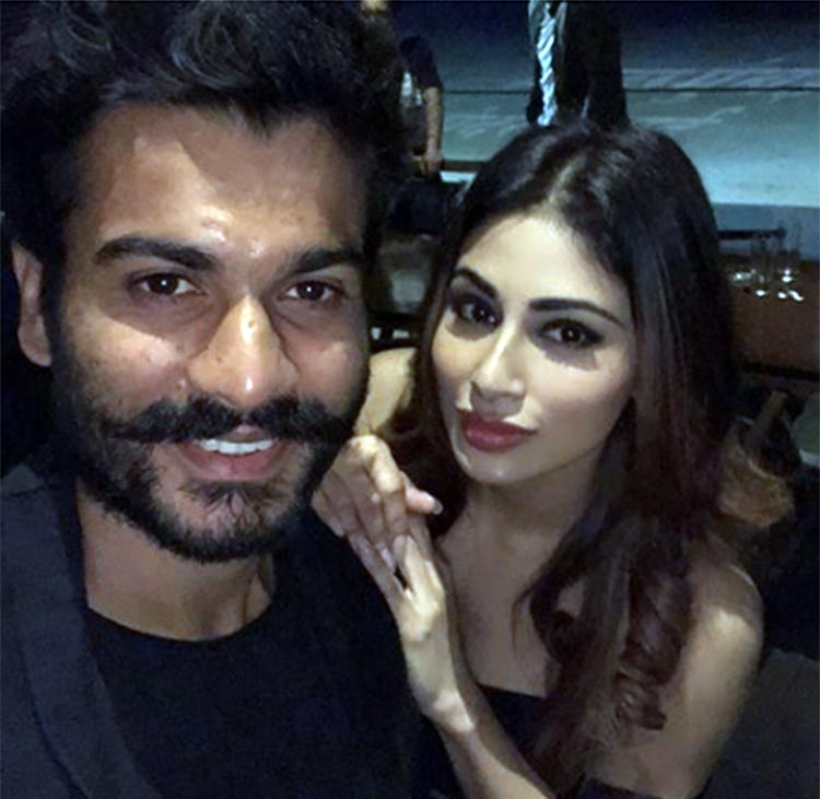 Mouni Roy with Sunny Kaushal at Gold wrap up party
