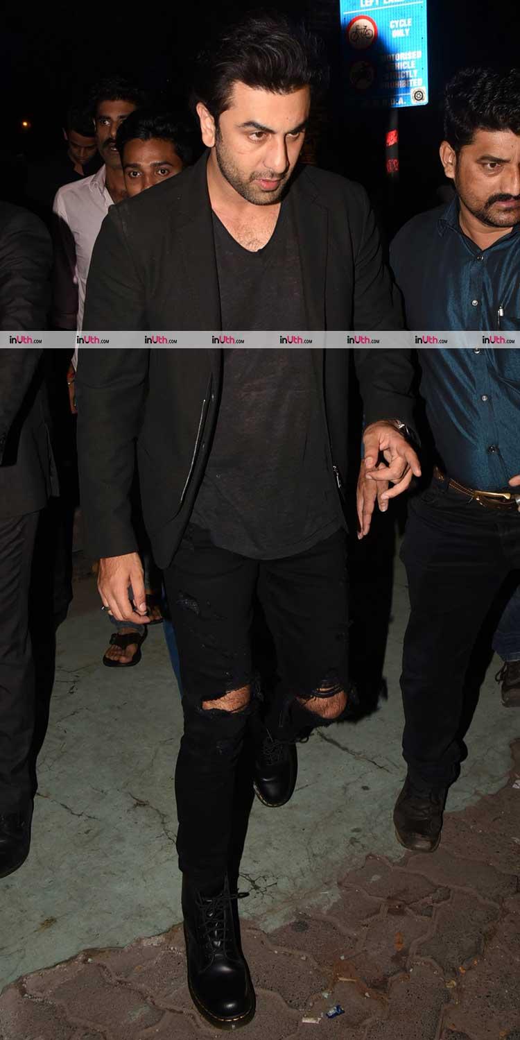 Ranbir Kapoor arriving at Bunty Walia's birthday party