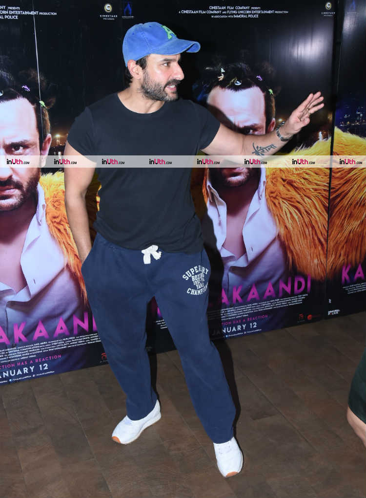 Saif Ali Khan at Kaalakaandi special screening