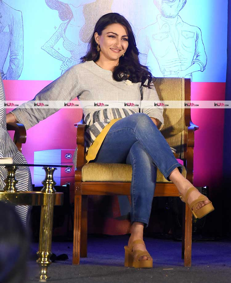 Soha Ali Khan at the launch of The Perils of Being Moderately Famous