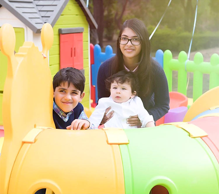 Taimur with cousins Kiaan and Samiera Raj Kapoor
