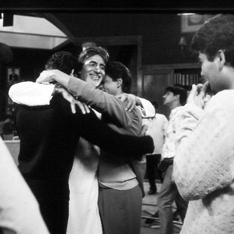 Amitabh Bachchan shooting the climax with Hrithik Roshan and Shah Rukh Khan