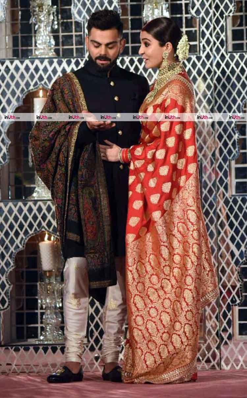Anushka Sharma and Virat Kohli clicked at their Delhi reception