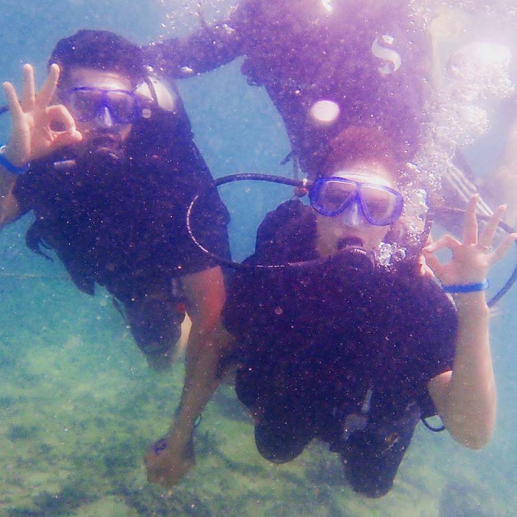 Divyanka Tripathi and Vivek Dahiya's scuba diving session