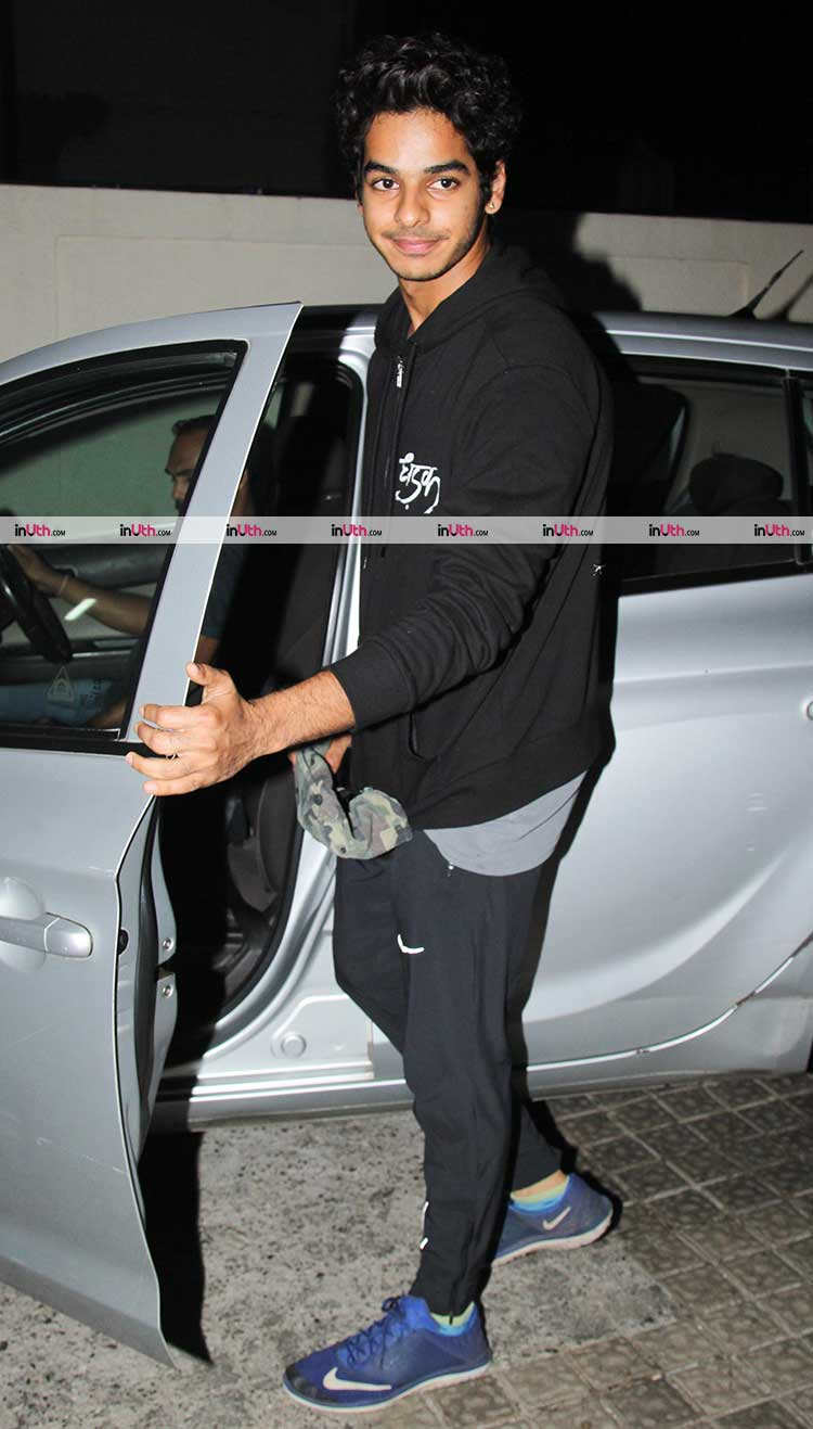 Ishaan Khatter snapped post a movie date with Janhvi Kapoor and family