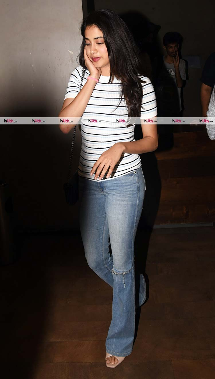 Jhanvi Kapoor snapped at the special screening of Tiger Zinda Hai