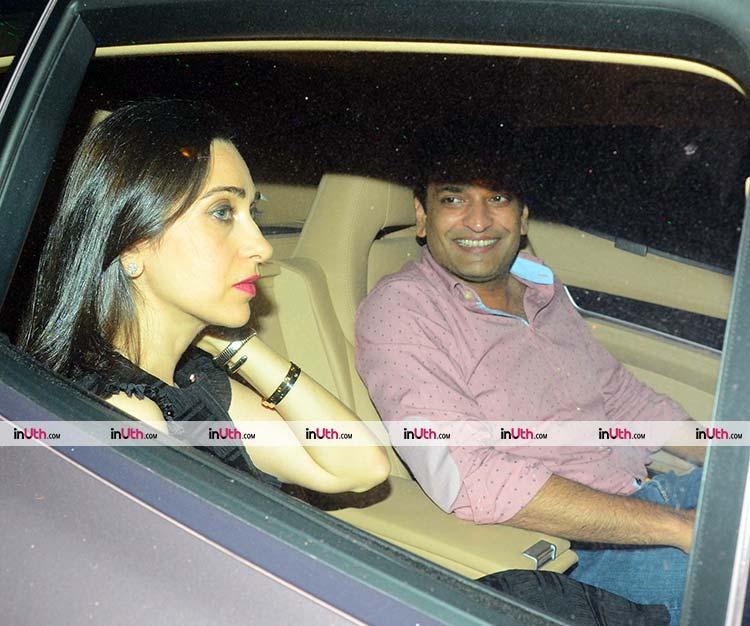 Karisma Kapoor with boyfriend Sandeep Toshniwal at Kareena Kapoor's party