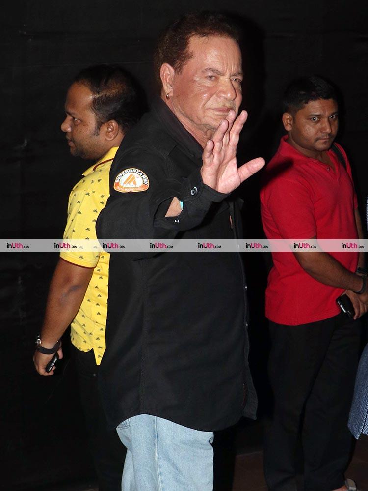 Salim Khan at the screening of Tiger Zinda Hai at Light Box